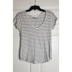 Black and white striped Abercrombie & Fitch T